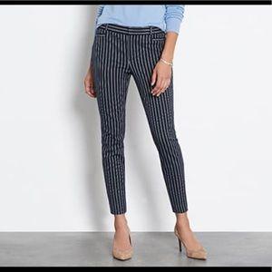 Banana Republic Sloan Pinstripe Ankle Pants Sz 4